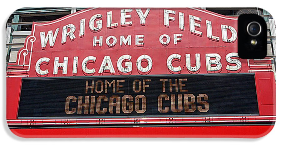 Wrigley IPhone 5 / 5s Case featuring the photograph 0334 Wrigley Field by Steve Sturgill