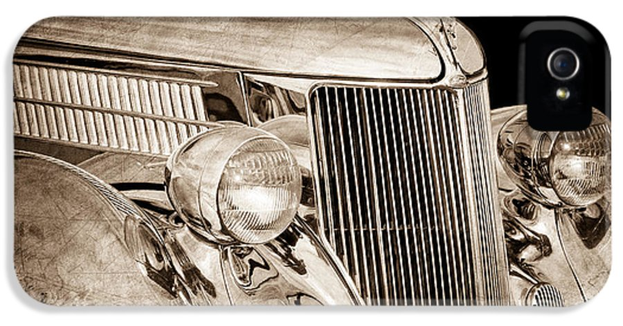 1936 Ford Stainless Steel Body IPhone 5 / 5s Case featuring the photograph 1936 Ford - Stainless Steel Body by Jill Reger