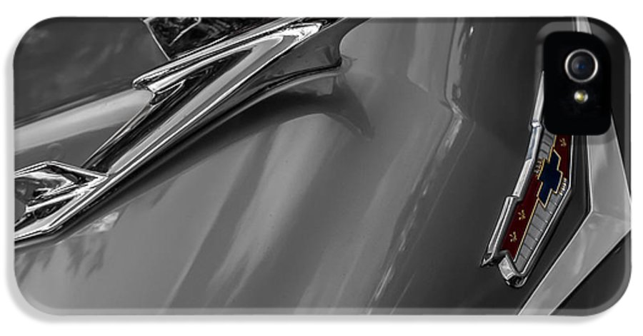Car Show IPhone 5 / 5s Case featuring the photograph 1955 Chevrolet Bel Air Eagle by Ron Pate