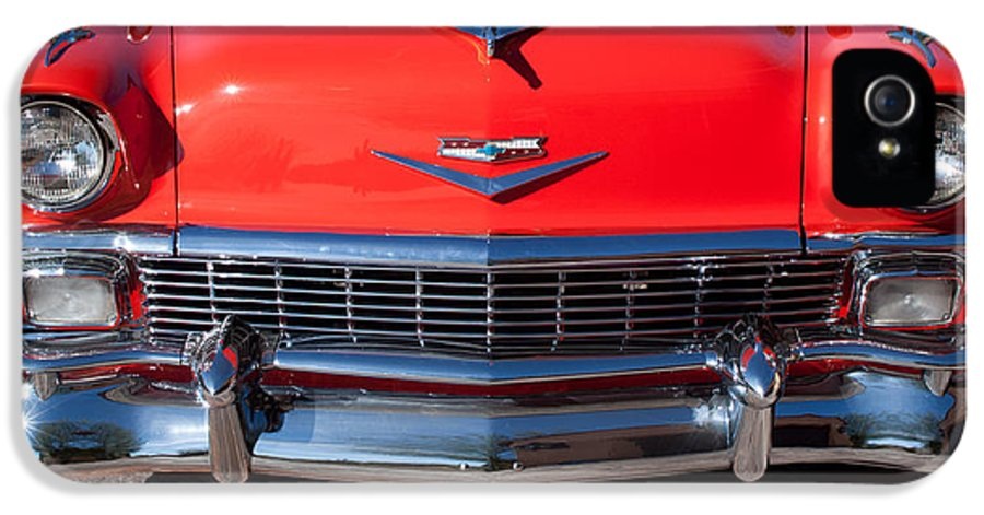 1956 Chevrolet Belair Convertible Custom V8 IPhone 5 / 5s Case featuring the photograph 1956 Chevrolet Belair Convertible Custom V8 by Jill Reger