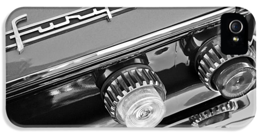 1962 Plymouth Fury Taillights And Emblem IPhone 5 / 5s Case featuring the photograph 1962 Plymouth Fury Taillights And Emblem by Jill Reger