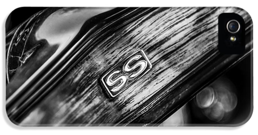 1969 Chevrolet Camaro Rs-ss Indy Pace Car Replica Steering Wheel Emblem IPhone 5 / 5s Case featuring the photograph 1969 Chevrolet Camaro Rs-ss Indy Pace Car Replica Steering Wheel Emblem by Jill Reger