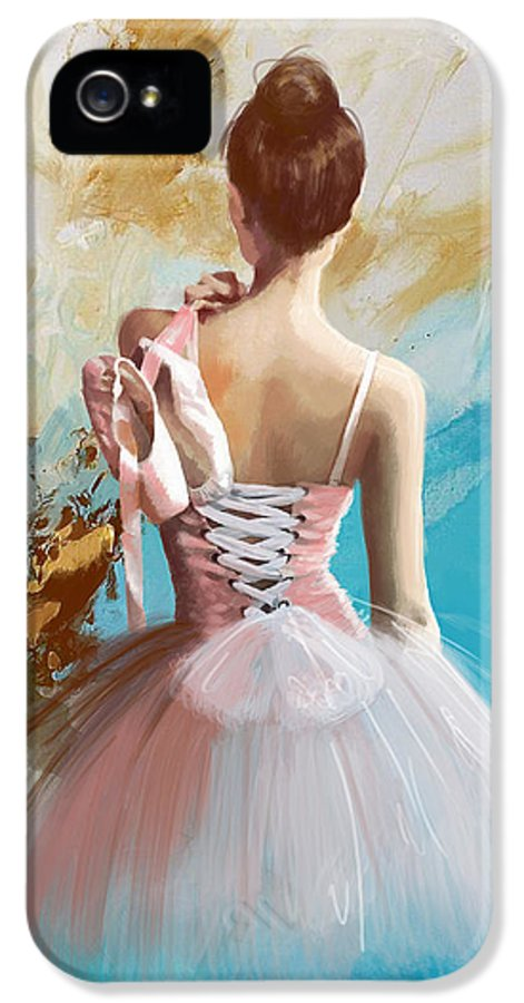 Women IPhone 5 / 5s Case featuring the painting Ballerina's Back by Corporate Art Task Force