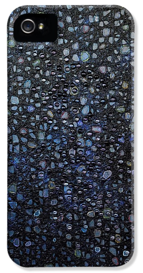 Rain IPhone 5 / 5s Case featuring the painting Black Rain by Donna Blackhall