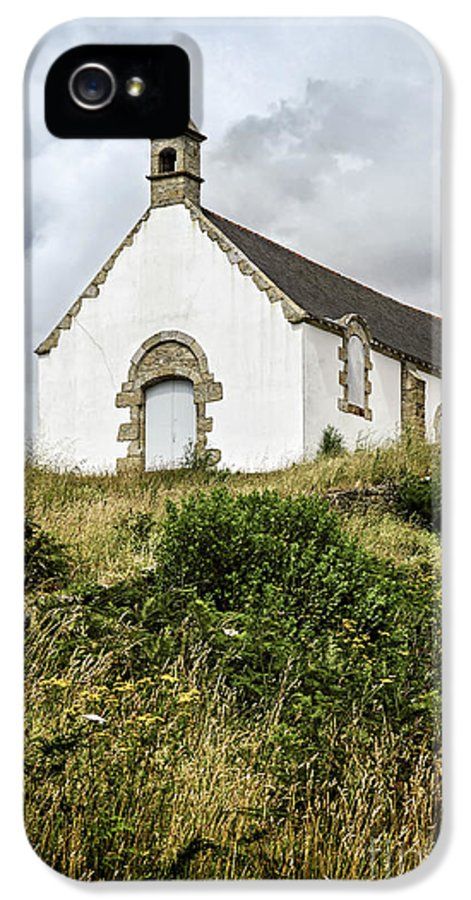 Old IPhone 5 / 5s Case featuring the photograph Breton Church by Elena Elisseeva