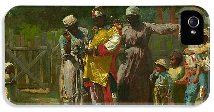 Winslow Homer IPhone 5 / 5s Case featuring the painting Dressing For The Carnival by Winslow Homer