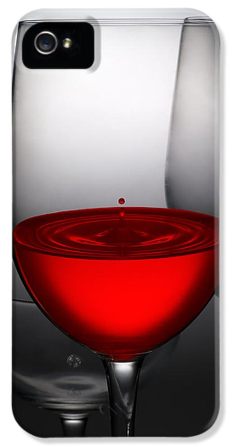Abstract IPhone 5 / 5s Case featuring the photograph Drops Of Wine In Wine Glasses by Setsiri Silapasuwanchai