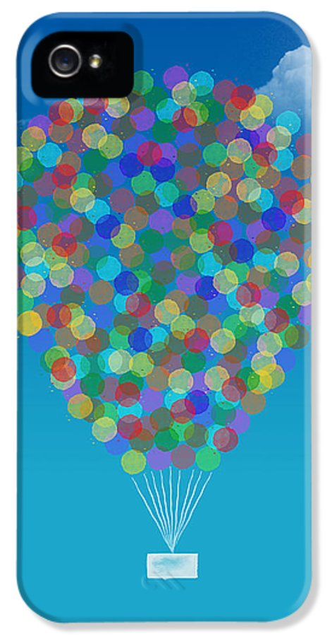 Hot Air Balloon IPhone 5 / 5s Case featuring the drawing Hot Air Balloon by Aged Pixel