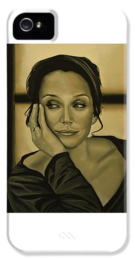 Kristin Scott Thomas IPhone 5 / 5s Case featuring the painting Kristin Scott Thomas by Paul Meijering