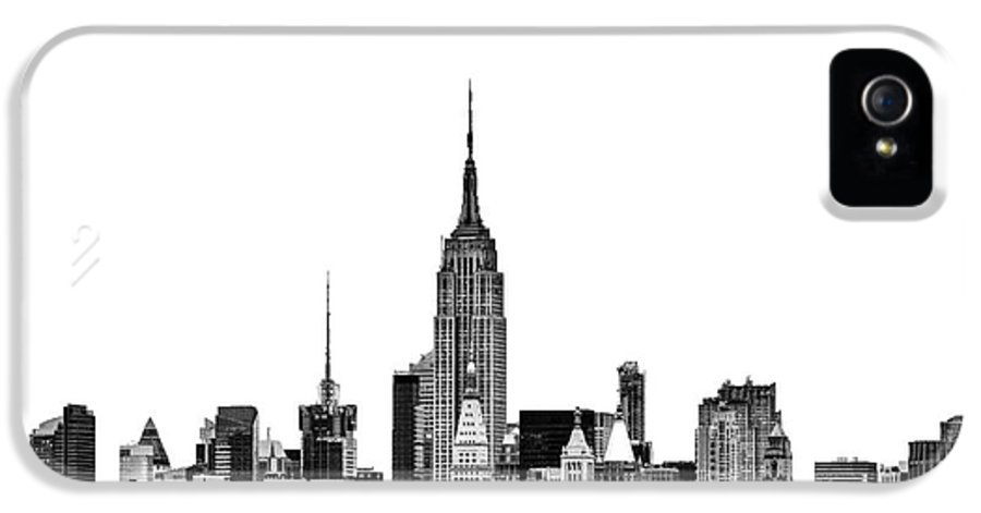 New York Canvas IPhone 5 / 5s Case featuring the photograph Manhattan Skyline by John Farnan