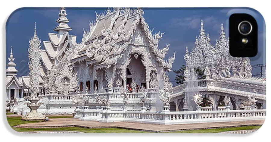 Hdr IPhone 5 / 5s Case featuring the photograph Rong Khun Temple by Adrian Evans