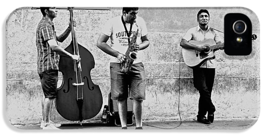 Rome IPhone 5 / 5s Case featuring the photograph Street Musicians Of Rome by Mountain Dreams