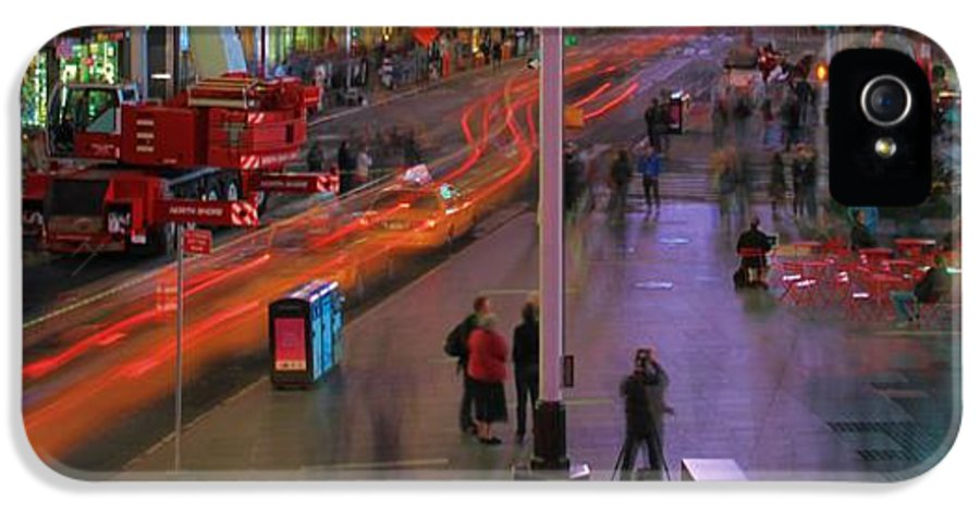 Times Square IPhone 5 / 5s Case featuring the photograph Times Square by Dan Sproul