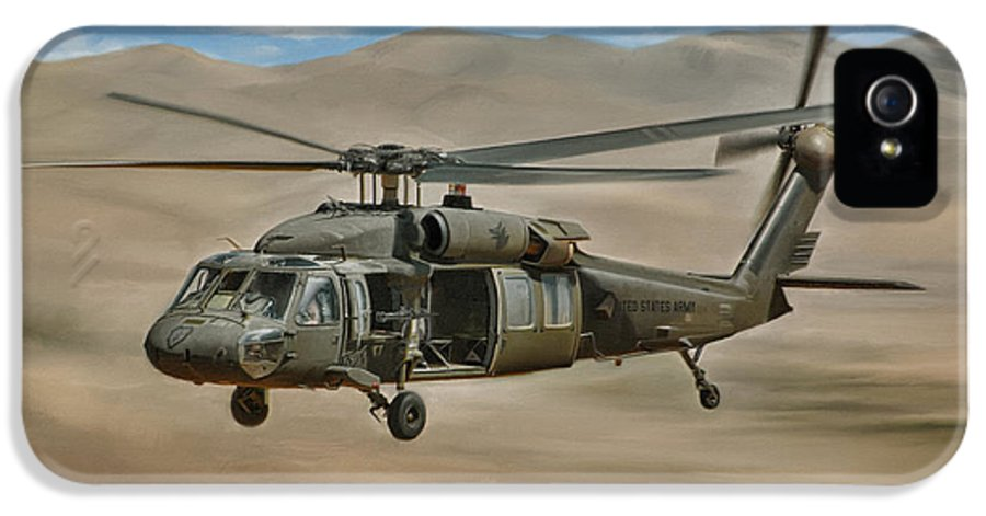 Uh-60 IPhone 5 / 5s Case featuring the digital art Uh-60 Blackhawk by Dale Jackson