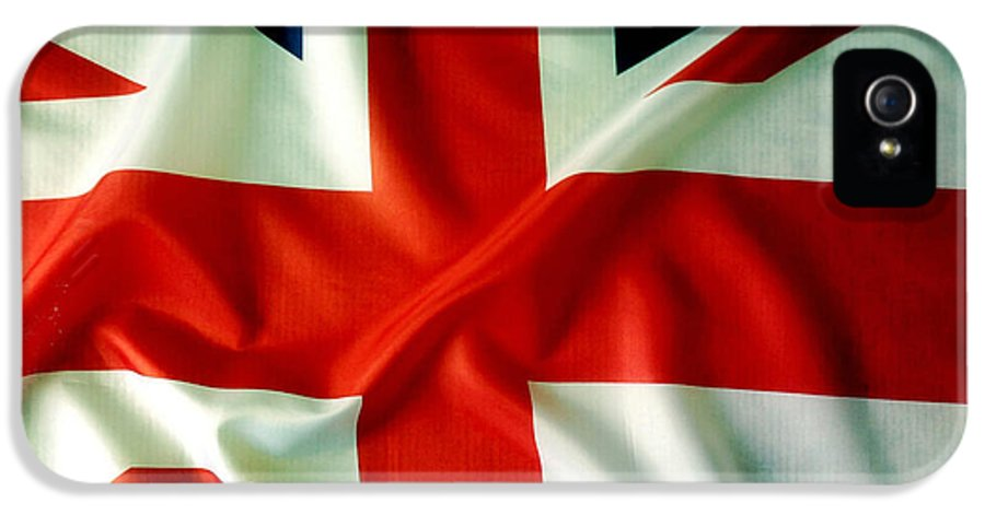 Background IPhone 5 / 5s Case featuring the photograph Union Jack by Les Cunliffe