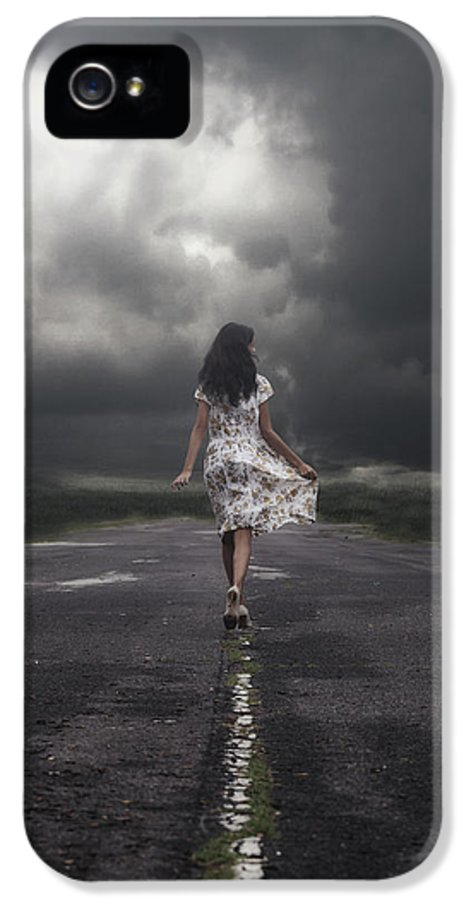 Girl IPhone 5 / 5s Case featuring the photograph Walking On The Street by Joana Kruse