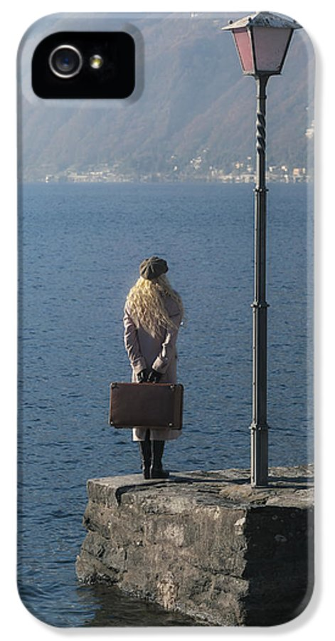 Girl IPhone 5 / 5s Case featuring the photograph Woman On Jetty by Joana Kruse