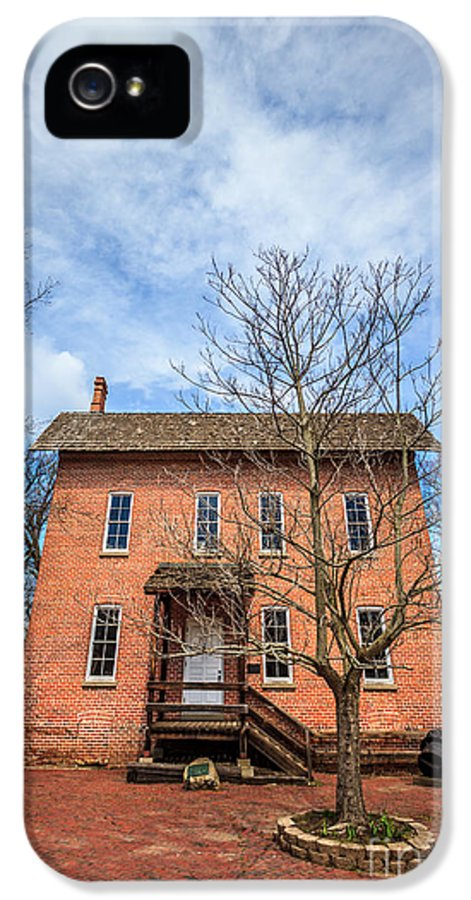 1800's IPhone 5 / 5s Case featuring the photograph Wood's Grist Mill In Deep River County Park by Paul Velgos