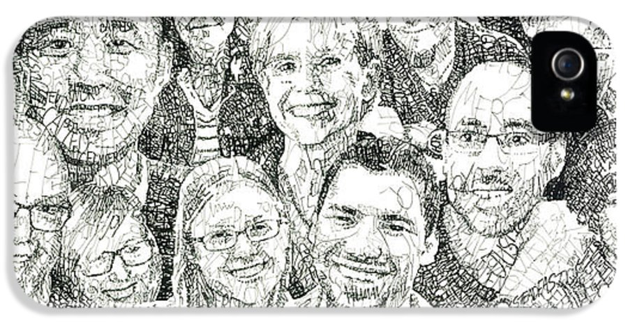 Portrait IPhone 5 / 5s Case featuring the drawing 100 Words Why I Am A Christian by Michael Volpicelli