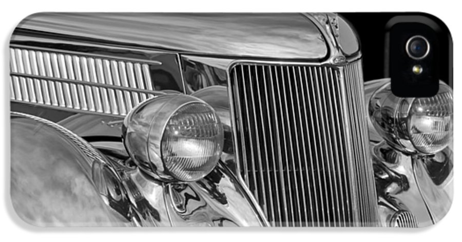 1936 Ford - Stainless Steel Body IPhone 5 / 5s Case featuring the photograph 1936 Ford - Stainless Steel Body by Jill Reger