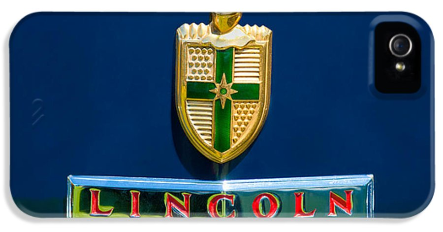 1942 Lincoln Continental Cabriolet Emblem IPhone 5 / 5s Case featuring the photograph 1942 Lincoln Continental Cabriolet Emblem by Jill Reger