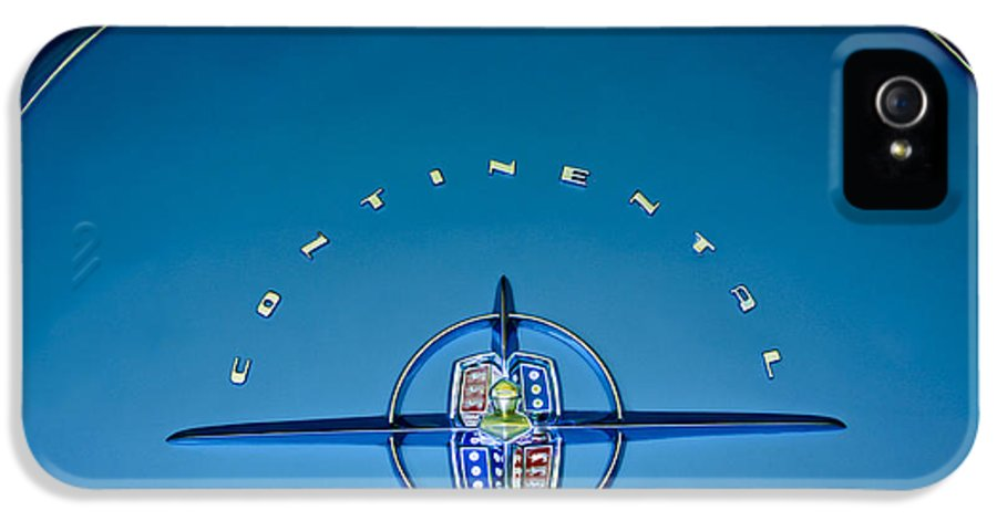 1956 Lincoln Continental IPhone 5 / 5s Case featuring the photograph 1956 Lincoln Continental Mark II Emblem by Jill Reger