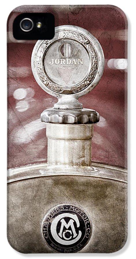 1913 Chalmers Model 18 Jordan Motometer IPhone 5 / 5s Case featuring the photograph 1913 Chalmers Model 18 Jordan Motometer by Jill Reger