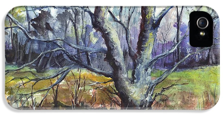 Tree IPhone 5 / 5s Case featuring the painting A Tree For Thee by Carol Wisniewski