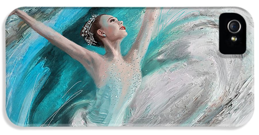 Catf IPhone 5 / 5s Case featuring the painting Ballerina by Corporate Art Task Force