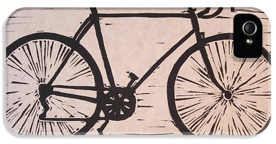Bike IPhone 5 / 5s Case featuring the drawing Bike 8 by William Cauthern