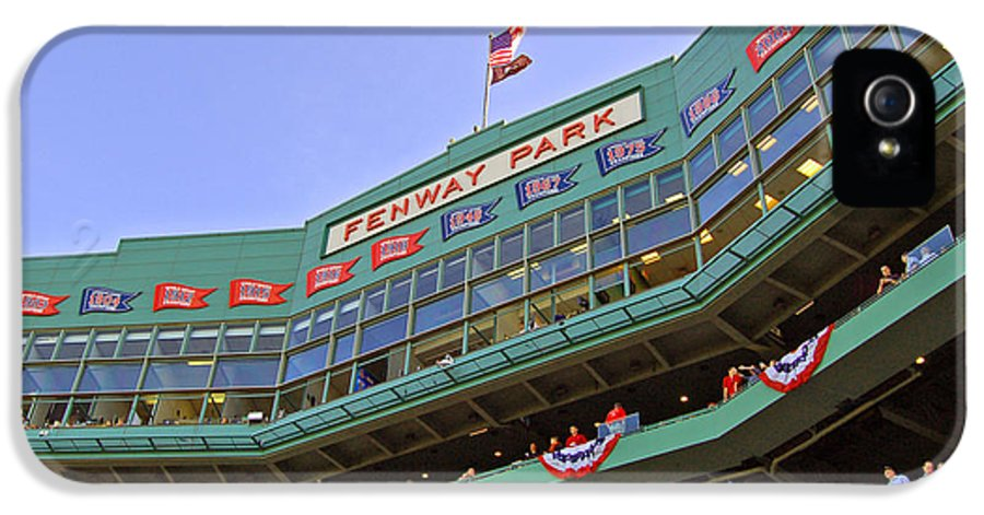 Red Sox IPhone 5 / 5s Case featuring the photograph Fenway's 100th by Joann Vitali