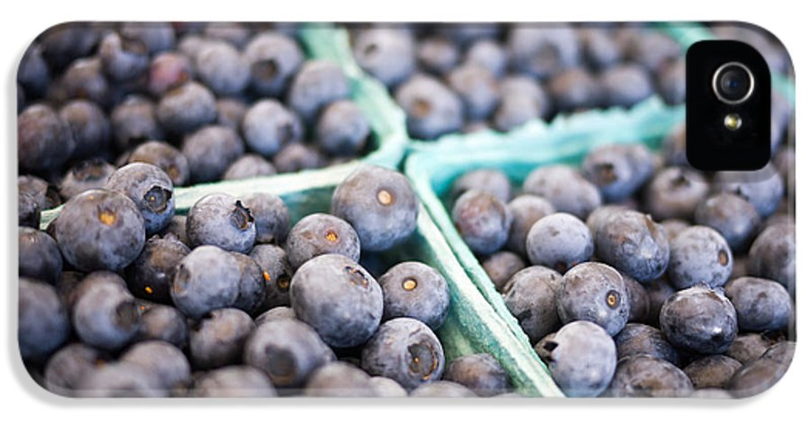 Fruit IPhone 5 / 5s Case featuring the photograph Fresh Blueberries by Edward Fielding