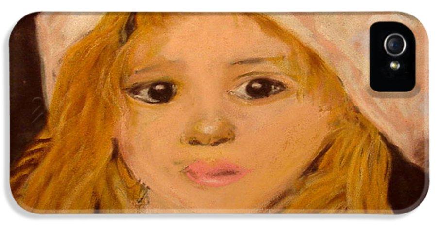 Pastel Portrait IPhone 5 / 5s Case featuring the pastel Little Girl by Joseph Hawkins