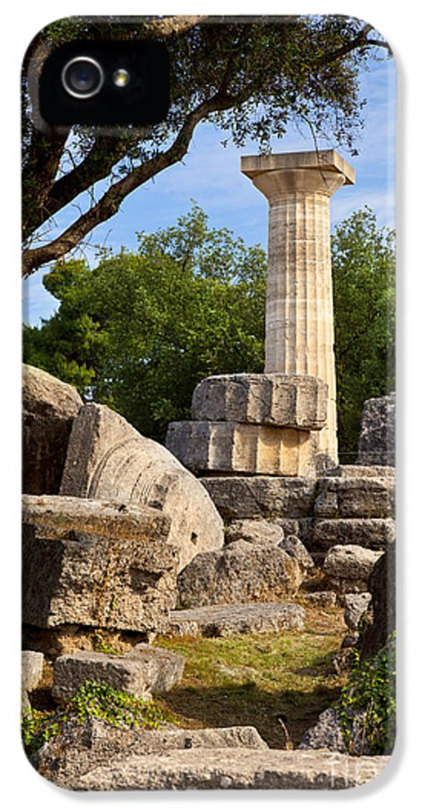 Ancient IPhone 5 / 5s Case featuring the photograph Olympia Ruins by Brian Jannsen