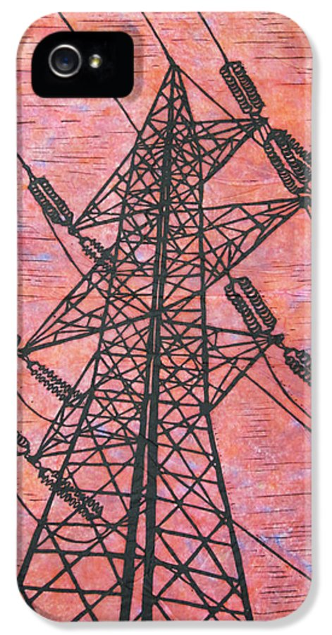 Power IPhone 5 / 5s Case featuring the drawing Power by William Cauthern