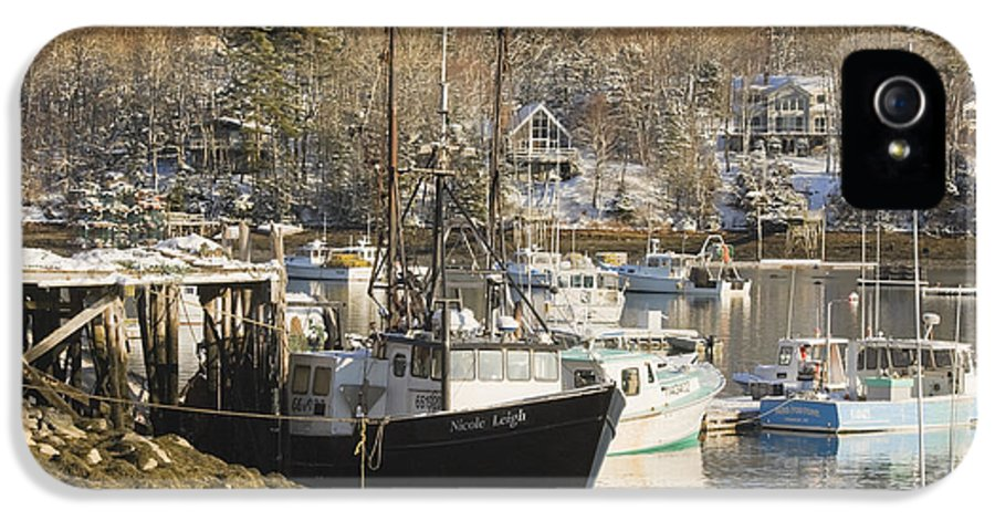 Maine IPhone 5 / 5s Case featuring the photograph South Bristol And Fishing Boats On The Coast Of Maine by Keith Webber Jr