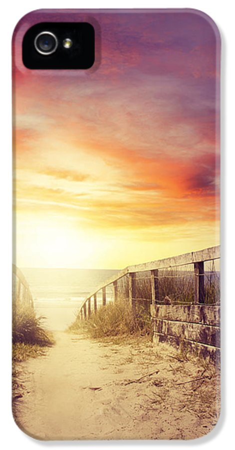 Beach IPhone 5 / 5s Case featuring the photograph Walkway by Les Cunliffe