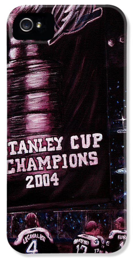 Tampa Bay Lightning IPhone 5 / 5s Case featuring the painting 2004 Champs by Marlon Huynh