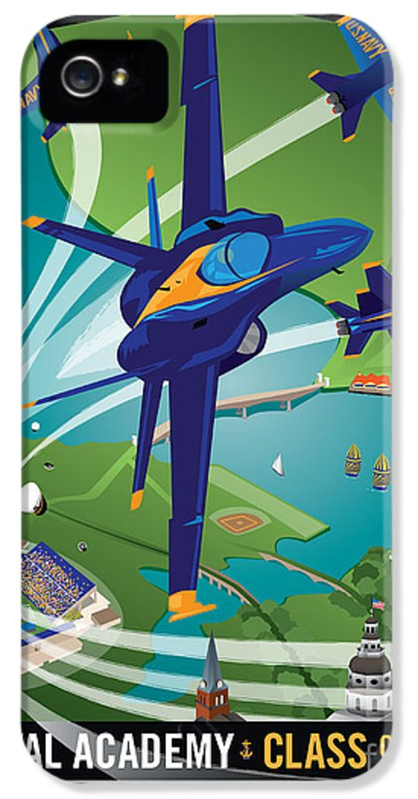 Blue Angels IPhone 5 / 5s Case featuring the digital art 2014 Usna Commissioning Week by Joe Barsin