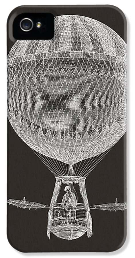 Hot Air Balloon IPhone 5 / 5s Case featuring the digital art Hot Air Balloon by Aged Pixel
