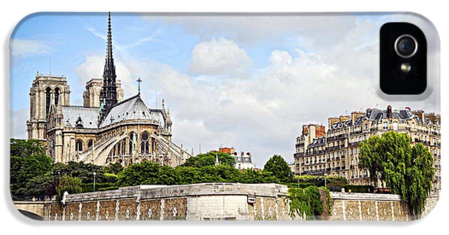 Notre IPhone 5 / 5s Case featuring the photograph Notre Dame De Paris by Elena Elisseeva