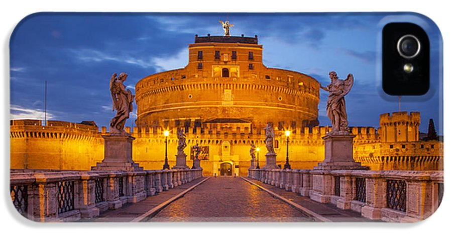 Angel IPhone 5 / 5s Case featuring the photograph Castel Sant Angelo by Brian Jannsen