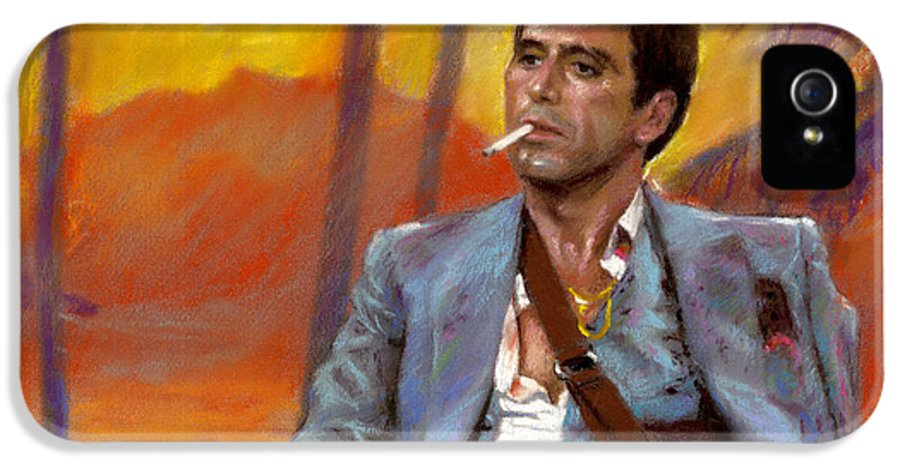 Scarface IPhone 5 / 5s Case featuring the drawing Scarface by Viola El