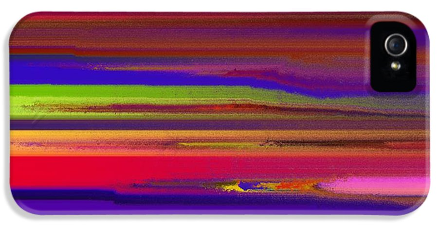 Abstract IPhone 5 / 5s Case featuring the painting Schreien by Sir Josef Social Critic - ART