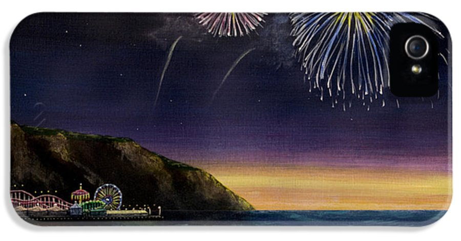 Amusement Pier IPhone 5 / 5s Case featuring the painting 4th On The Shore by Jack Malloch