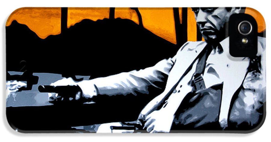 Ludzska IPhone 5 / 5s Case featuring the painting Scarface by Luis Ludzska