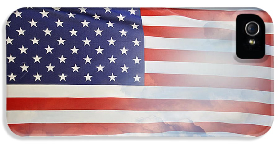 American IPhone 5 / 5s Case featuring the photograph American Flag by Les Cunliffe
