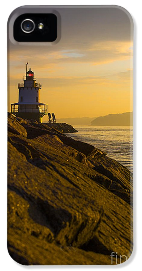 Lighthouse IPhone 5 / 5s Case featuring the photograph Sunrise At Spring Point Lighthouse by Diane Diederich