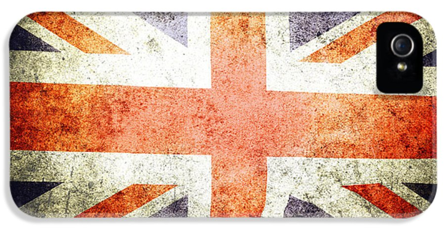 Flag IPhone 5 / 5s Case featuring the photograph Union Jack by Les Cunliffe