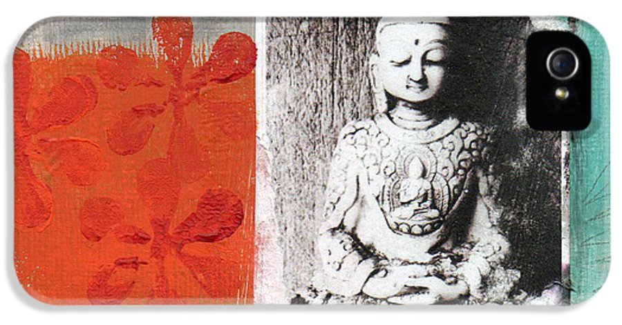 Buddha IPhone 5 / 5s Case featuring the painting Namaste by Linda Woods